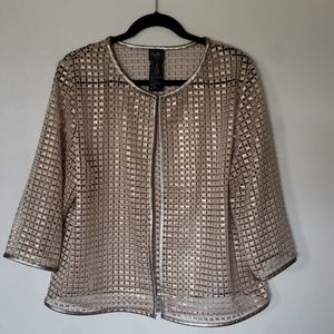 TRAVELER'S COLLECTION by CHICO'S gold net jacket